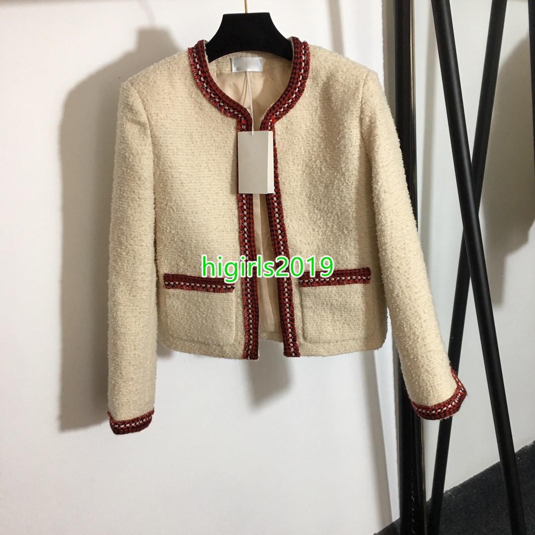 Manga larga y otoño manga larga tweed chaquetas elegante delgado chaqueta retro chaqueta abrigo clásico señoras salvajes ladies luminoso alambre brillante Tweed