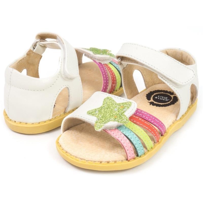 Livie Luca Neue Mode Kinder Schuhe Kleinkind Mädchen Sandalen Kinder Jungen Echtes Leder Geschlossene Zehen KOSTENLOSER VERSAND 210301