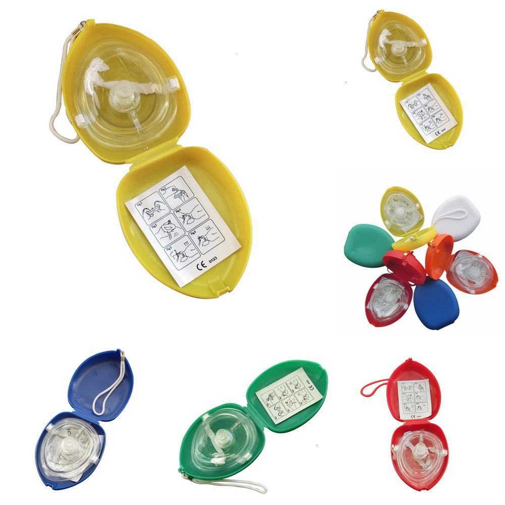 قناع الإنقاذ جيب 10pcs / lot الإنعاش مع صمام التنفس CPR في اتجاه واحد للإسعافات الأولية معدات الطوارئ Multijwgc 446kj