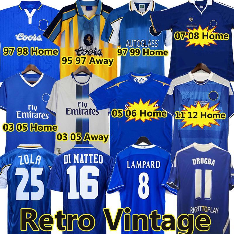 CFC Drogba 2011 Torres Retro Soccer Jersey Lampard 11 12 13 Final 96 97 97 82 كرة القدم قميص خمر Crespo Classic 03 05 06 Cole Zola Vialli 07 08
