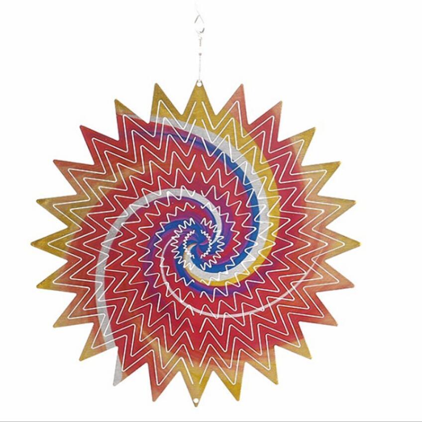 Spinner de vento de aço inoxidável de aço inoxidável Spinners de vento pendurado decoração de jardim para ornamentos de jardim ao ar livre indoor Envio marítimo criativo GWB5086
