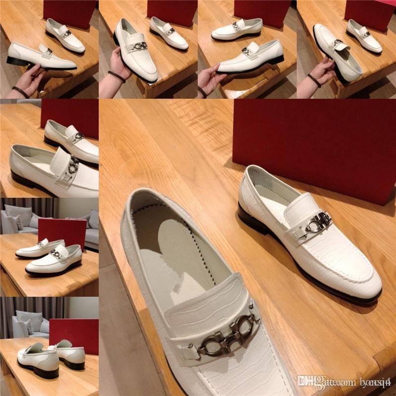 Mm hommes robe de luxe chaussures chaussures à la main bringue style Paty cuir chaussures de mariage designeurs hommes appartements cuir Oxfords chaussures 33