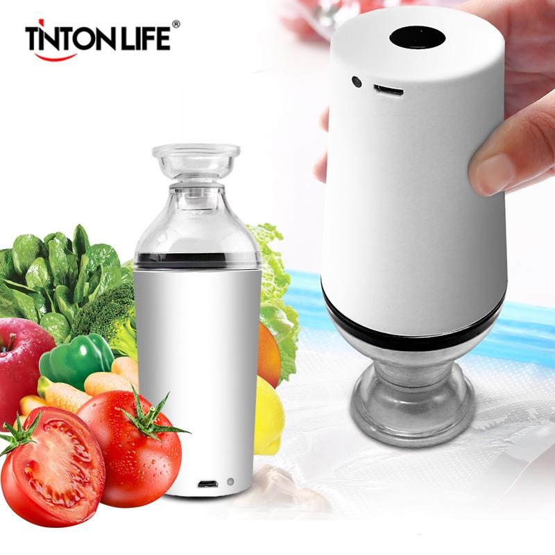 Tinton Life Handheld Food Vakuum Sealer Verpackungsmaschine Film Container Sealer Vakuumpacker mit Vakuum-Reißverschluss Taschen Heißer Verkauf