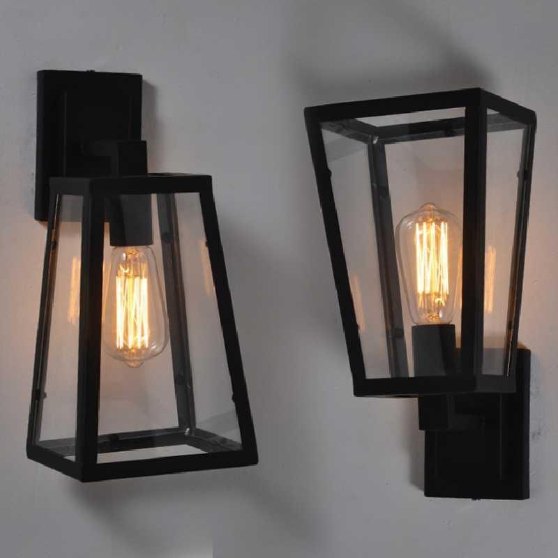 Amerikanisches Land Retro Wandlampe Restaurantbar Gänge Wandlampe Eisenglaskasten Dekorative Lampen