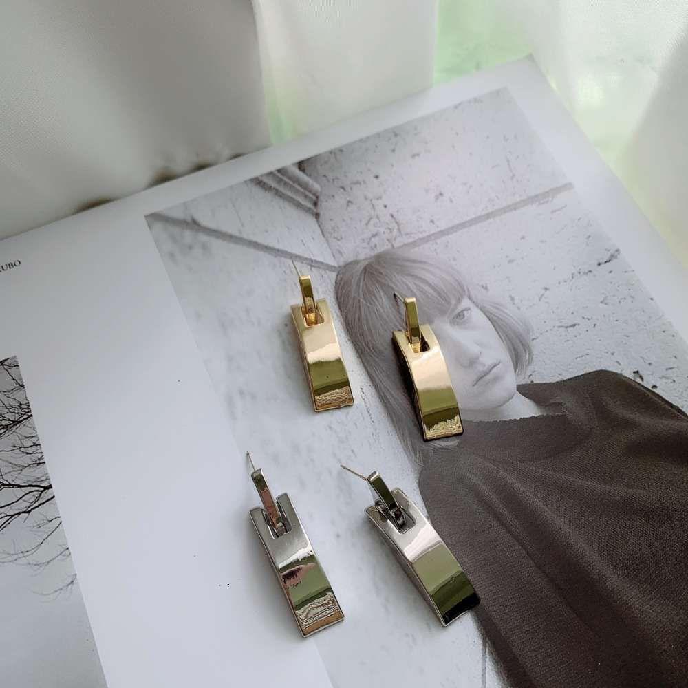 HBP Moda Coreia do Sul East Portão De Metal Simples Cool Wind Metade Arch Texture Brincos