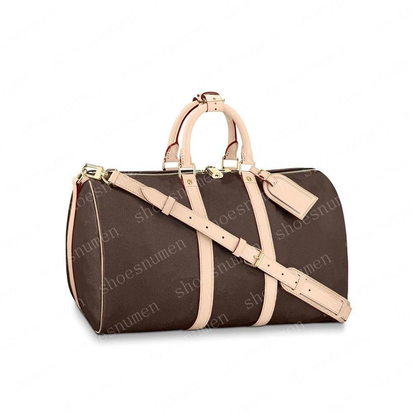 Duffle Bag Багажные сумки Сумки Сумки на плечо Сумка Рюкзак Женщины Tote Сумка Мужчины Кошельки Сумки Мужская Кожаная Сцепление Сумка 55-79