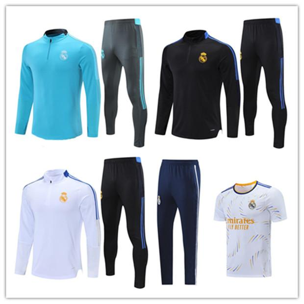 2020 2021 Real Madrid PERIGO ASENSIO agasalho de jaqueta de futebol adulto 20/21 Conjunto de treinamento de futebol com zíper longo ISCO KROOS RODRYGO survetement