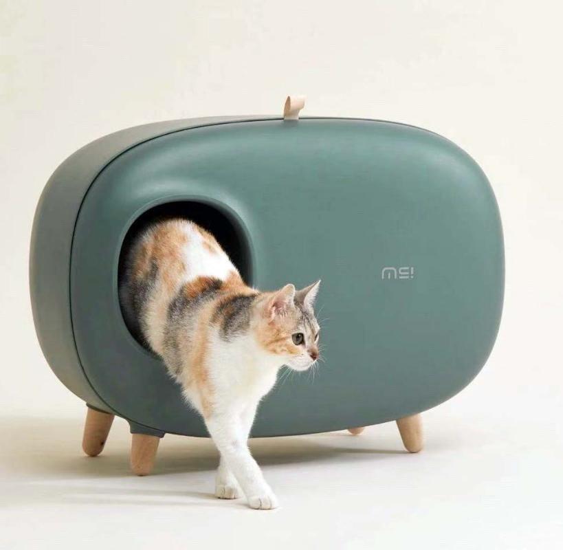 Diğer Kedi Malzemeleri Çöp Kutusu Temizlenmesi Kolay Kum Kaçak Tuvalet Eğitimi Seti Kapalı Tasarımın Kolaylaştırılması BB50MS