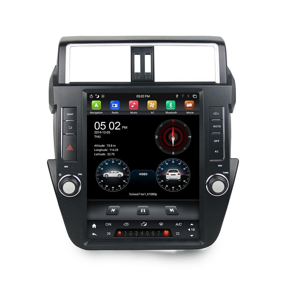 """Tesla Style PX6 12.1 """"Android 9,0 Car DVD Auto Radio GPS pour Toyota Prado 2014 2015 2016 2017 Bluetooth 5.0 WiFi CarpleLayRoid Auto"""
