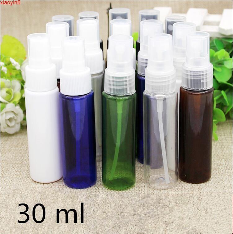 Высокая квасильность Бесплатная доставка 30 мл белый черный четкий зеленый темно-коричневый пластиковый распылитель парфюмерные бутылочки воды пустые упаковочные бутылки