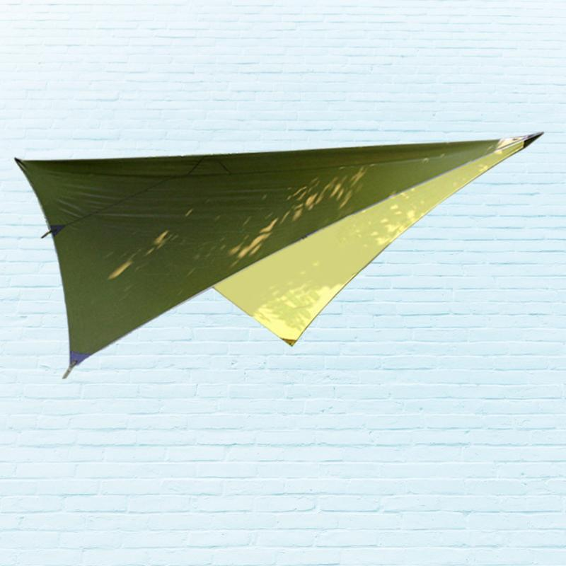Outdoor Multifunction Canopy Sun Shade Tent Camping Sail Tarp Groundsheet (Accessories Not Included) (Green)