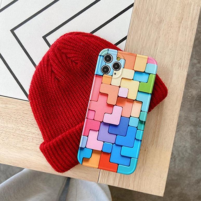 Custodia in silicone in silicone a prova di colore di vendita calda per iPhone 12 mini 11 Pro Max XS Max Copertura completa C3921
