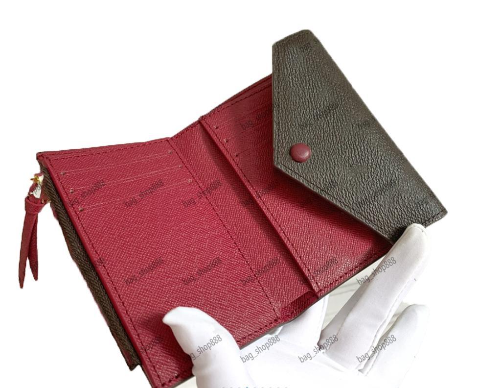 Kadın Çanta Kısa Cüzdan Hasp Katlanır Hakiki Deri Orijinal Çanta Seri Numarası Çanta Cüzdan Tutucular Omuz Çantaları Bag_Shop888 0
