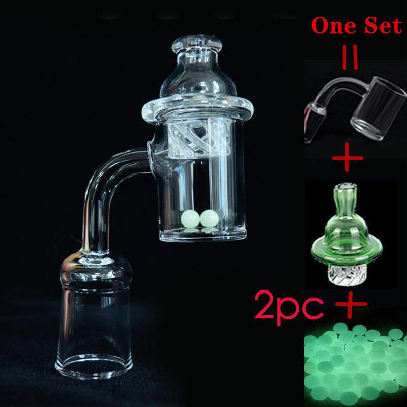 Commercio all'ingrosso 4mm Bottom al quarzo Banger con vetro colorato rotazione tappo di carboidrati quarzo quarzo termico chiodi di banger dabber Bong DAB petrolifera per fumare