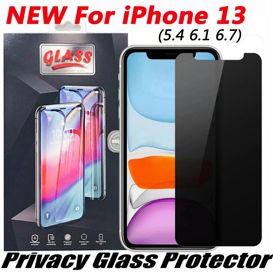2.5D Anti-peeping anti-spy Privacy Tempered Glass Phone Screen protector for iphone 13 12 11 pro XR XS max X 6 7 8 Plus with retail package