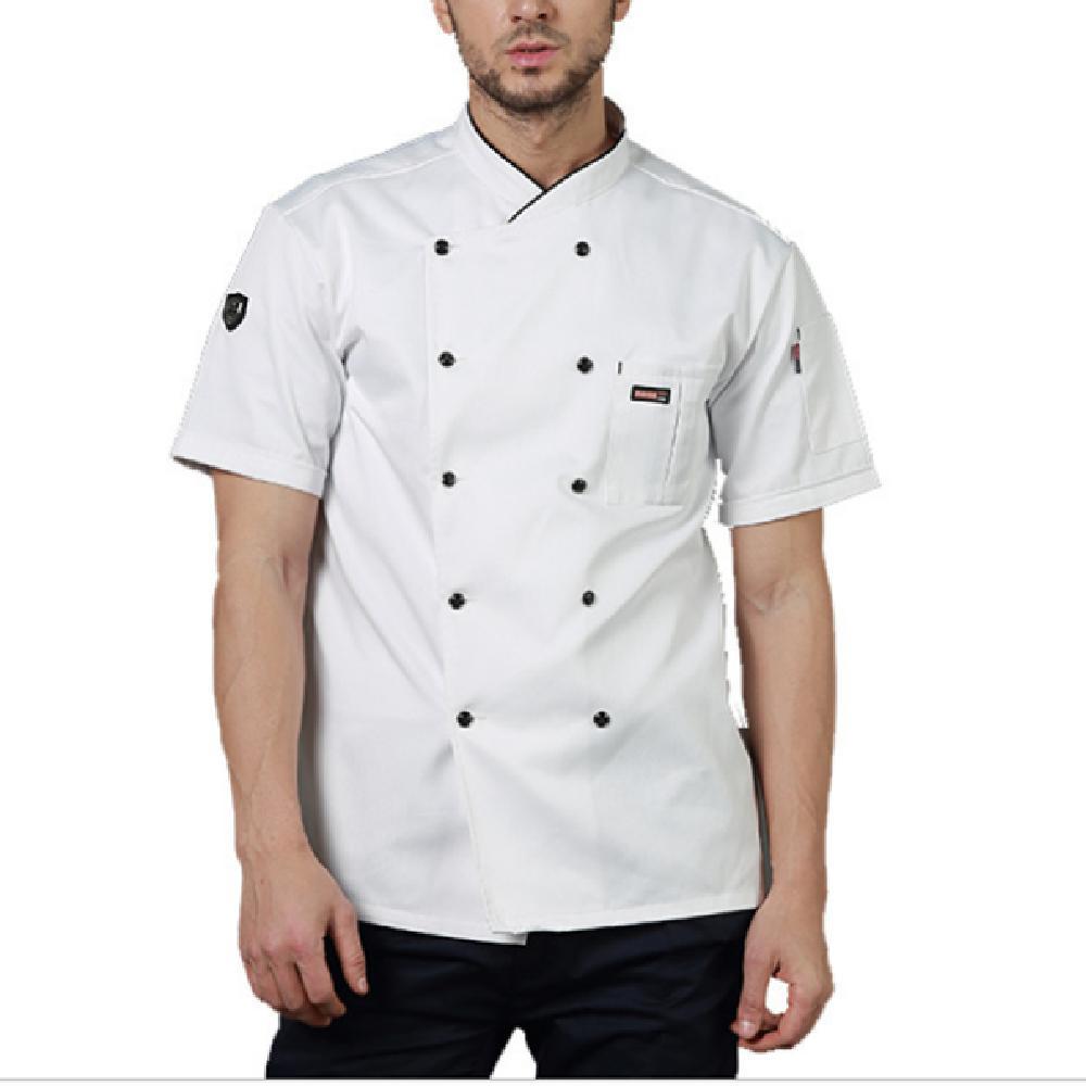 Şef İş Giysileri Erkekler ve Kadınlar Kısa Kollu Yaz Otel Batı Restoran Mutfak Havalandırma Özelleştirme