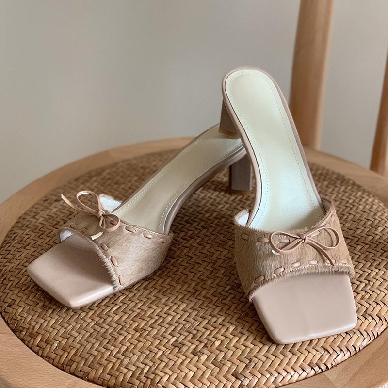 Тапочки Мода Высокие каблуки Для Женщин Прохладный Прибытие 2021 Летняя Обувь Женщина Высокое Качество Свадебные Основные насосы