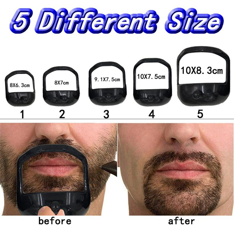 2021 Hommes Clippers Modèle Guide Modèle Design Moustache Goatee Shafe Shafer Style Bard Peigne Perfect Shape Tool de style 5pcs / set