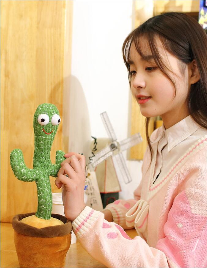 New Explosive Internet Celebrities Will Dance And Twist Cactus Creative Toys Music Songs Gifts Creative Ornament To Attract Customers