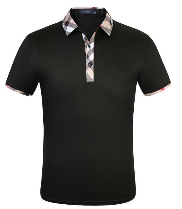 CAMISETA DE MODA DESIGNADOR POLO Camiseta de manga corta de manga corta Original sola solapa algodón ropa deportiva ropa de jogging