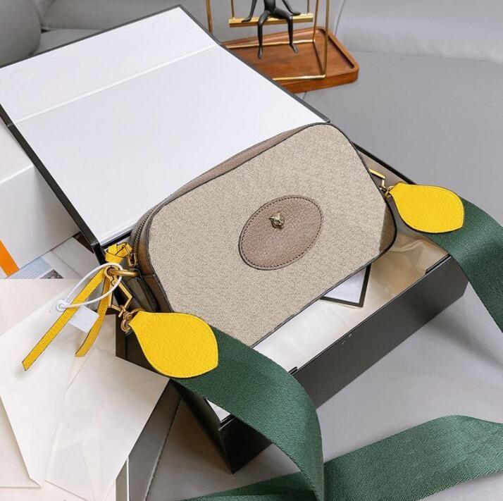 2021 Diseñadores de Lujos Bolsos Neo Vintage Messenger Bolsas Hombres Mujeres Crossbody Bag Brass Hardware Originales Vestido de calidad Bolsa de cámara con caja