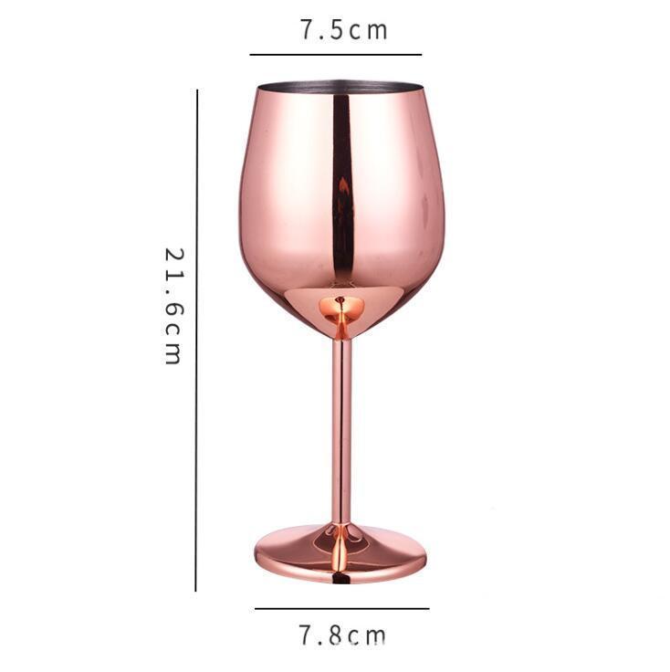 Edelstahl Becher Champagner Glas Solide Rotwein Tumbler Creative Silber Gold Rose Gold Weingläser Cocktail Cup Meers Schiff GWE8836
