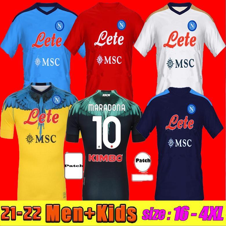 FANS + PLAYER Versione 21 22 Napoli Soccer Jersey Casa Away 3a 2021 2122 Napoli Zielinski Maradona Insigne Mertens Callejon RPG Camicie da calcio