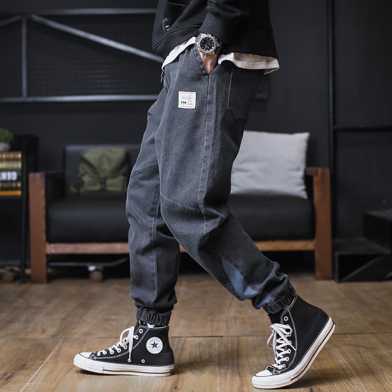 Streetwear Noir Jeans Harem Pantalons Hommes 2021 Mode Homme Joggers Joggers Jeans pour hommes Pantalons masculins Designer Marque Marque Cargo