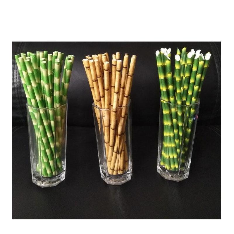 Eco-Friendly 19.5cm Burbuja desechable Té de bambú grueso Jugo de bambú Paja de bebida Leche de paja Cumpleaños Jlluez Warmslove