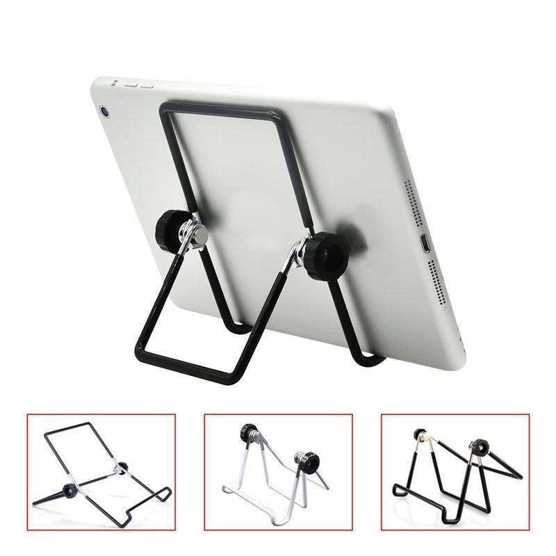 Soporte de alambre plegable Tableta de tela de teléfono móvil Soporte de metal Lazy Desktop Soporte plegable Tablet PC Stands