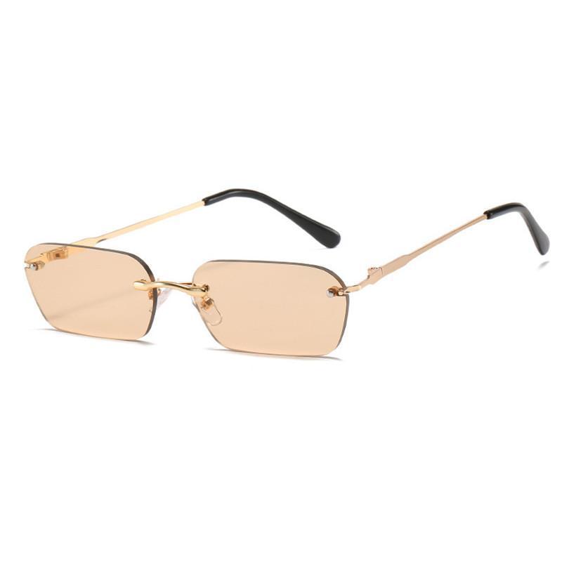 Sunglasses 2021 Rimless Women Oval Shades Men Small Frame Sun Glasses Female Eyewear Gafas De Sol Ladies Male