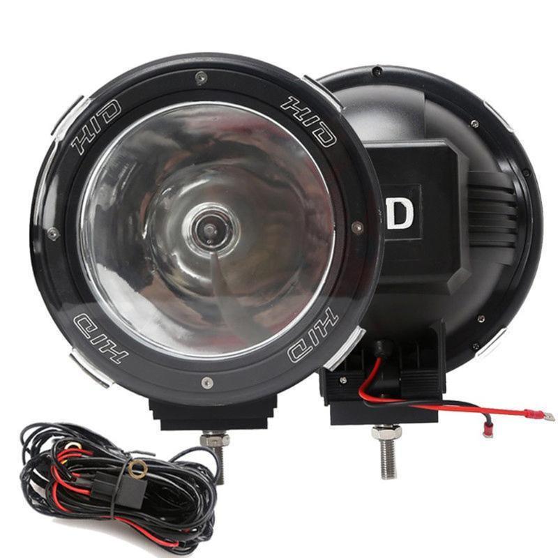 """Lanternes portables 1 paire 7 """"pouces 12V 100W HID lumières de conduite Xenon Spotlights pour la chasse hors route Pêche Camping Spot de travail"""