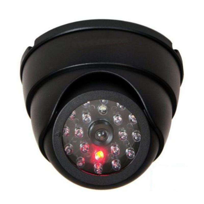 Dummy Dome Fake Surveillan Camera CCTV IR LED W / Flash Красный светодиодный свет.