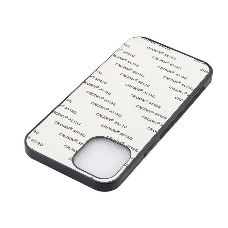 TPU + PC 2D Caja de sublimación con hojas de aluminio en blanco para iPhone 12 11 Pro MAX XS XR XR XS MAX para la impresión de transferencia de calor de bricolaje