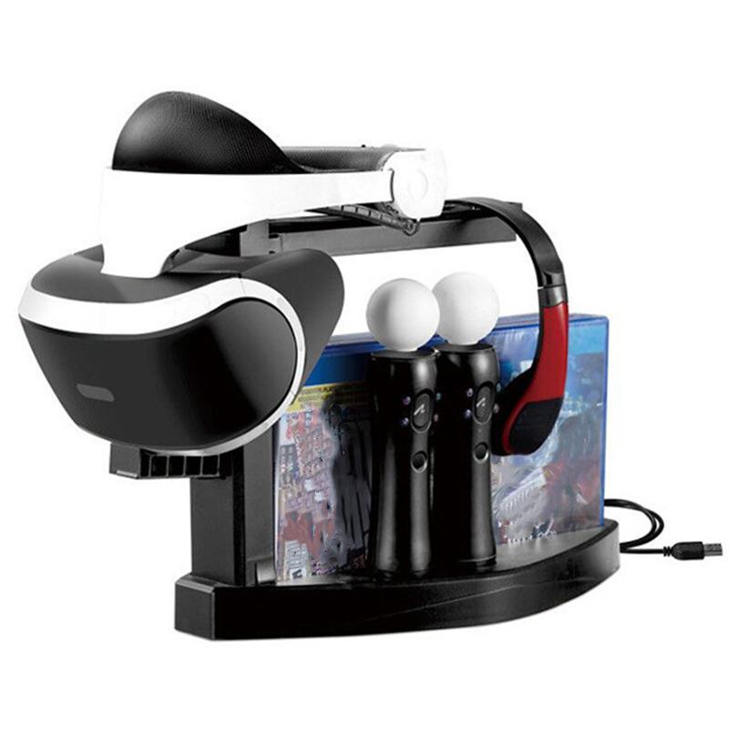 Syytech Chargers محطة شحن عرض موقف ل PS4 PS VR وحدة استبدال استبدال أجزاء إصلاح