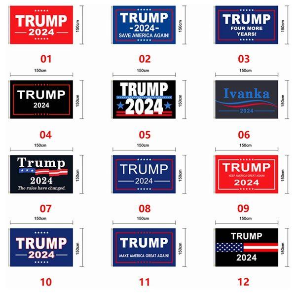 Trump Flag 2024 Election Flag Banner Donald Trump Flag Keep America Great Again Ivanka Trump Flags 150*90cm 12 Styles SEA SHIPPING EEA1277