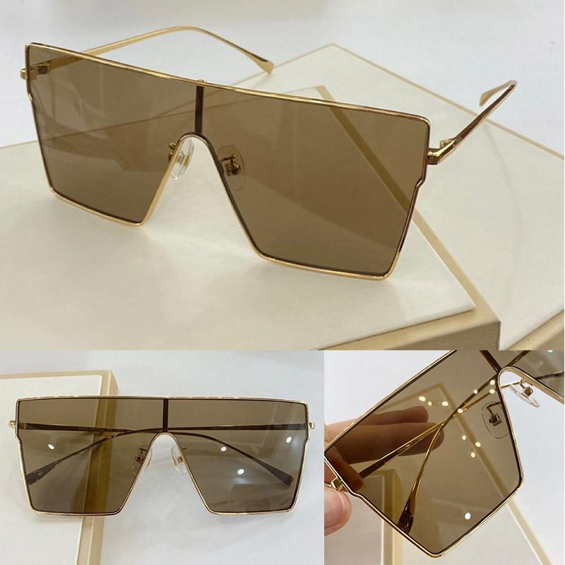 0420 New Fashion Sunglasses With UV Protection for Women Vintage Square Metal Full frame advanced popular Top Quality Come With Case