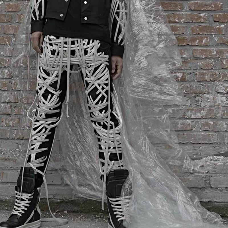 Пэчворк повязка женщин брюки высокая талия повседневные тонкие брюки для женского лета 2021 уличная одежда модный прилив