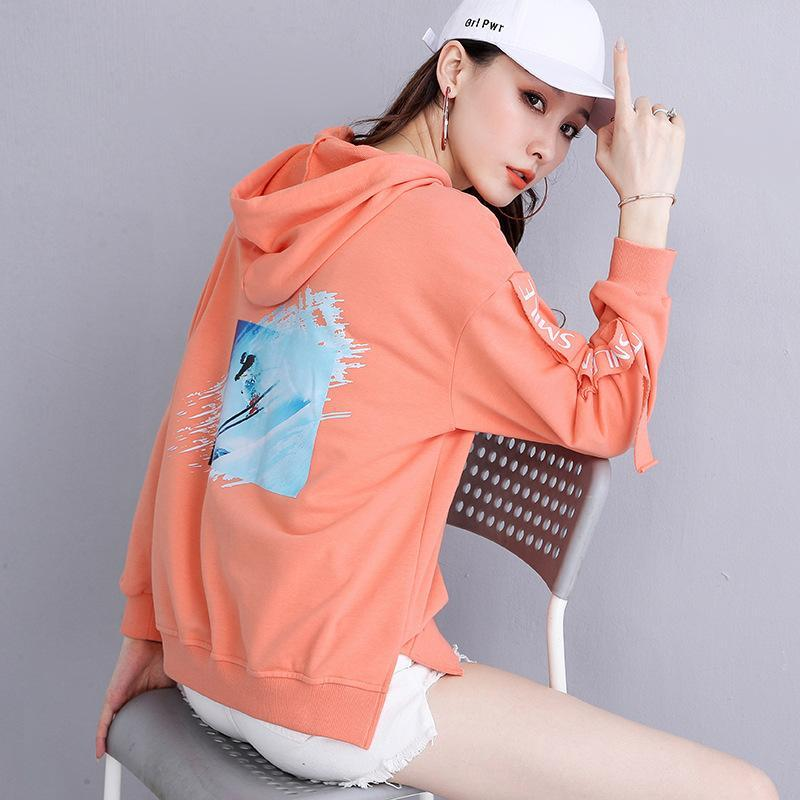 Damen Hoodies Sweatshirts 2021 Winter Frühling Frauen Langarm Baumwollfleece Jacken Mäntel Mode Damen