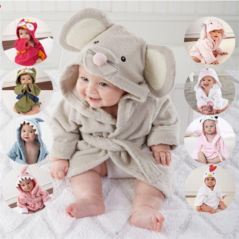 20 designs serviettes à capuche Modélisation des animaux Peignoir bébé / caricature bébé serviette de bain / personnage enfants robe de bain / bébé serviettes de plage 124 Q2