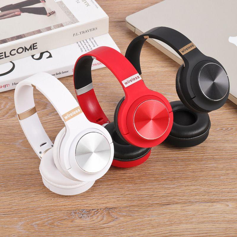 سماعات سماعات لاسلكية للكمبيوتر الشخصي لعبة Box سماعات بلوتوث مثبتة على رأس الليزر المعدني HiFi دعم بطاقة FM