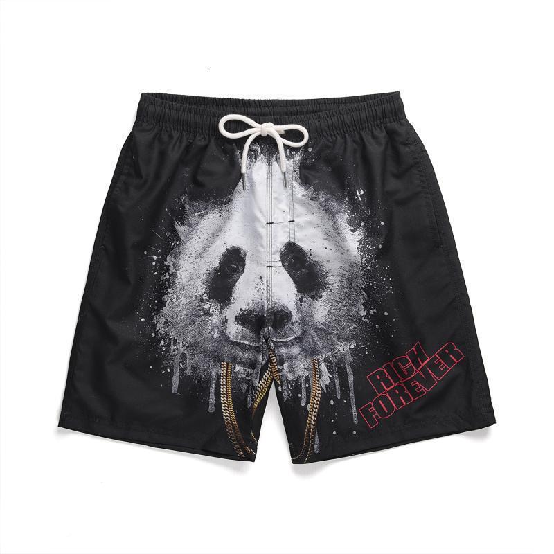 Secado rápido La marca de moda de los hombres de la playa de la playa con forro interior Pantalones de natación de doble capa