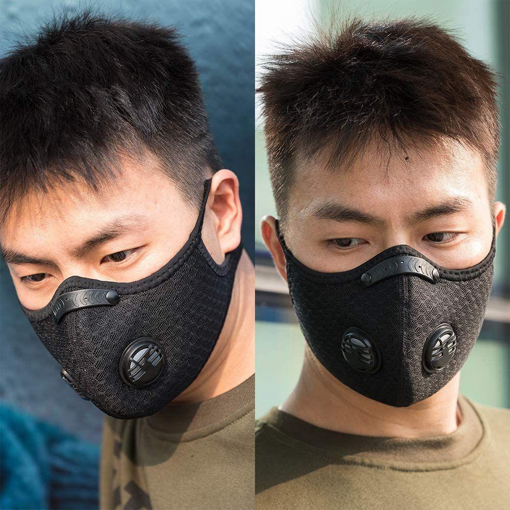 Máscaras medio diseñador montaña carretera bicicleta anti-polvo cara transpirable activado carbón ciclismo corriendo mascarilla de bicicleta