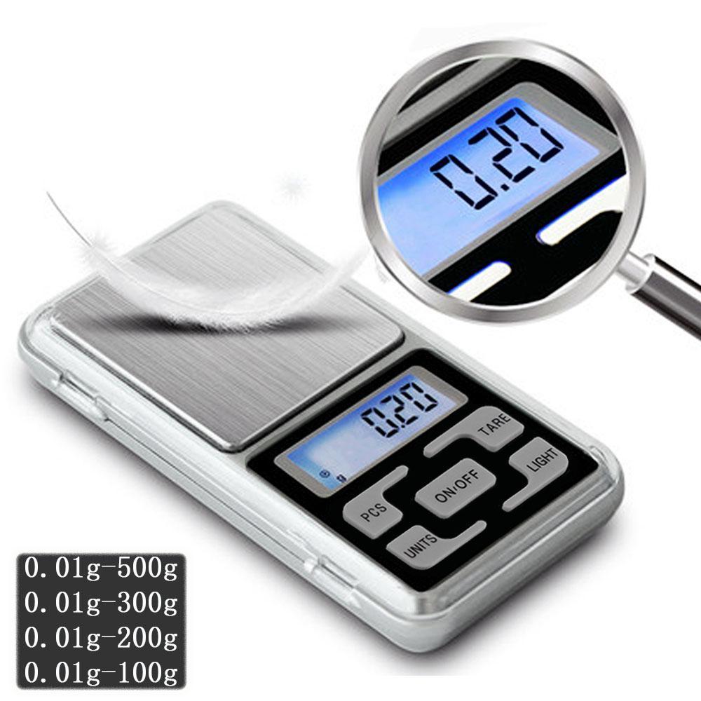 Mini tasca Digital Bilancia per Gold Sterling Silver Jewelry Bilance Bilancia Gram Bilance elettroniche 100/200/300 / 500G x 0,01G / 0.1G