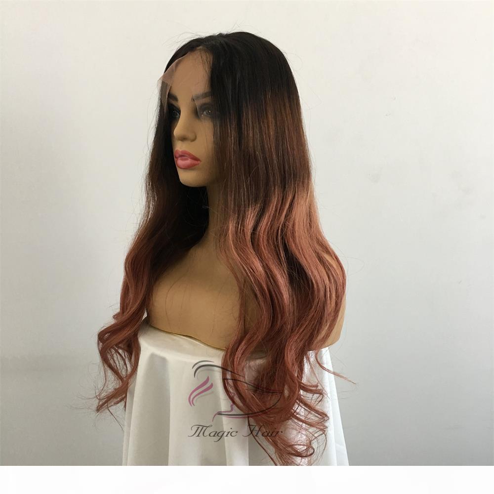 Полное кружевное человеческие волосы парики предварительно сорванные бразильские ременные волосы средний бежевый цвет T1B 4 30A натуральные волна кружева фронт человеческих волос парики
