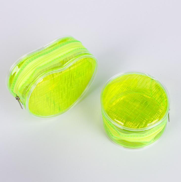Hbpvc cilindro com zíper zíper transparente borracha macia ambiental relógio redondo mudança de embalagem saco transparente pvc saco # 3322