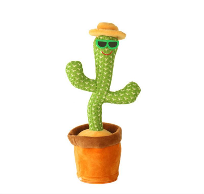 Favor Wriggle Dancing Cactus Sing Electronic Plush Toy Decoration For Kids Funny Early Childhood Education Toys
