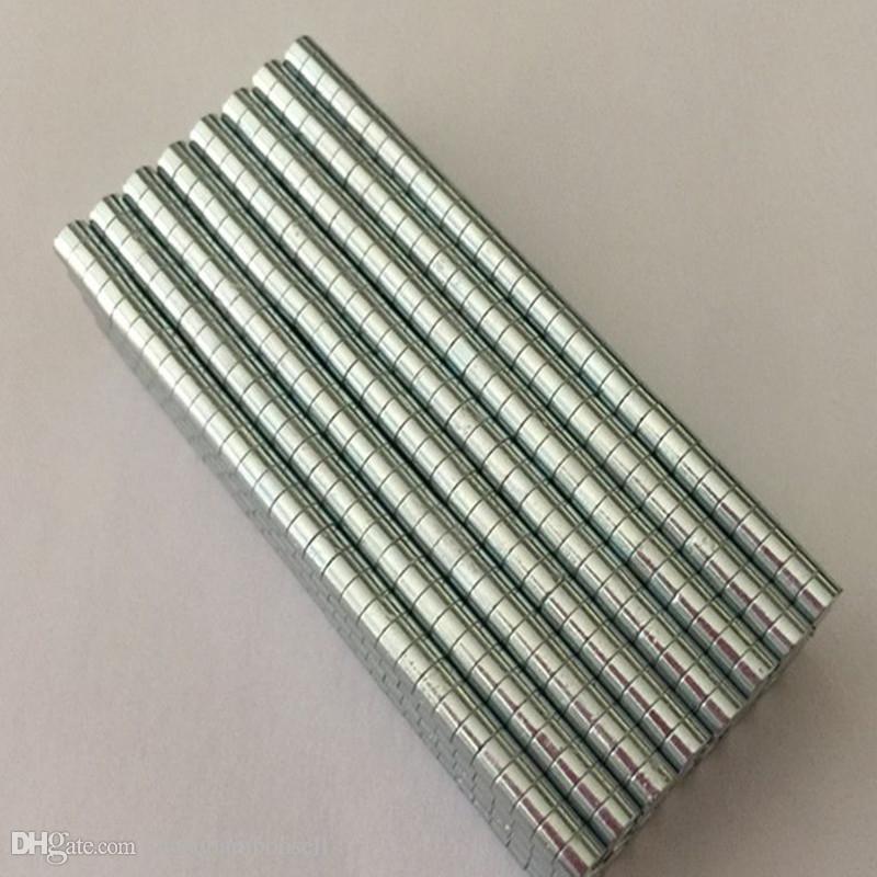 Оптовые - В наличии 100 шт. Сильные круглые круглые магниты NDFEB Dia 5x1.5mm N35 редкоземельный неодимий постоянное ремесло / DIY магнит Бесплатная доставка