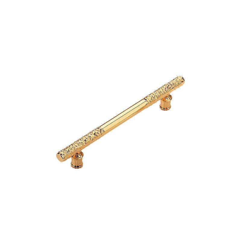 Одно отверстие 96 128 160 192 мм Мода Роскошный Креативный K Золотой Шкаф Кухонный Шкаф Дверной Ручкой Яркий Золотой Сплошной Шкаф Ящик Pull 1346