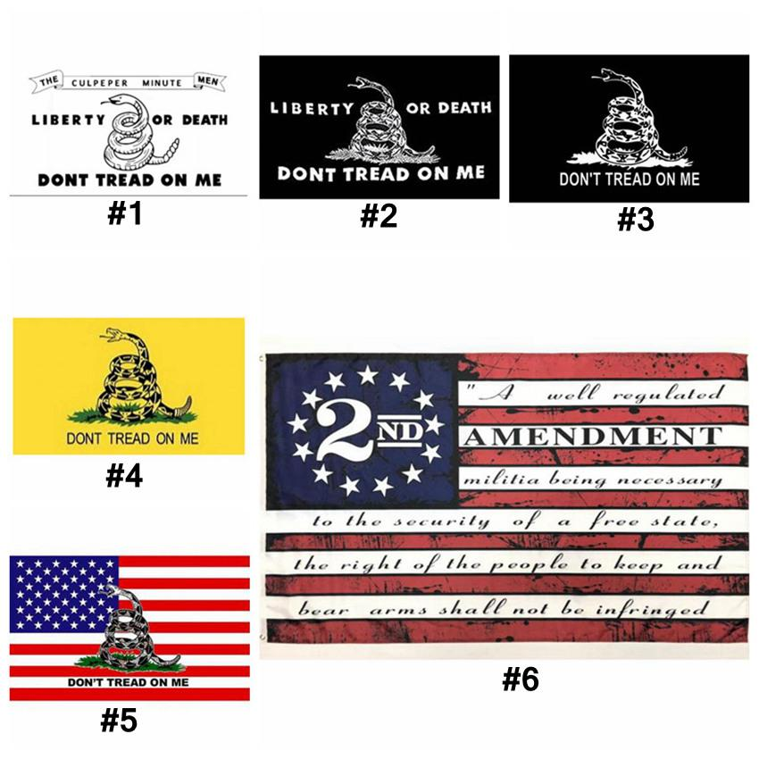 2nd Emendamento Bandiera Americana Vintage non calpestata su di me Banner 90 cm * 150 cm poliestere personalizzato USA Bandiere di pallacanestro CYZ3273